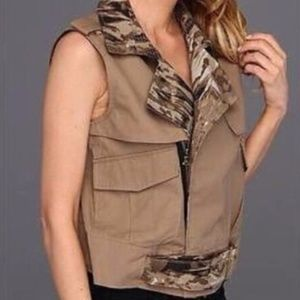 KENNETH COLE SHITAKE BROWN CAMOFLAUGE TILDA VEST